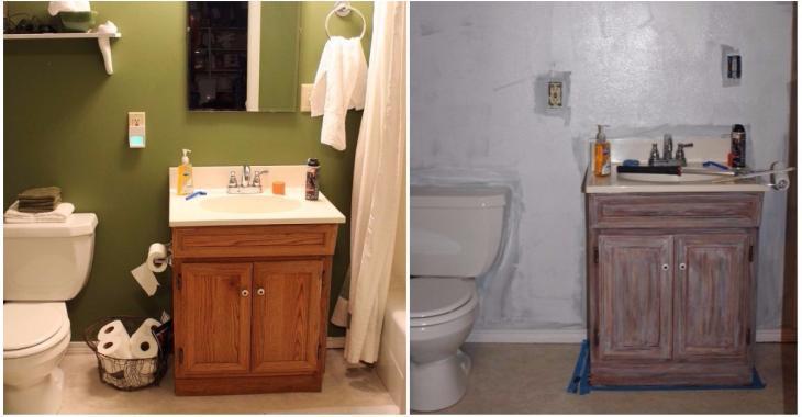 La manière dont elle transforme sa salle de bain complètement démodée est un exemple à suivre!