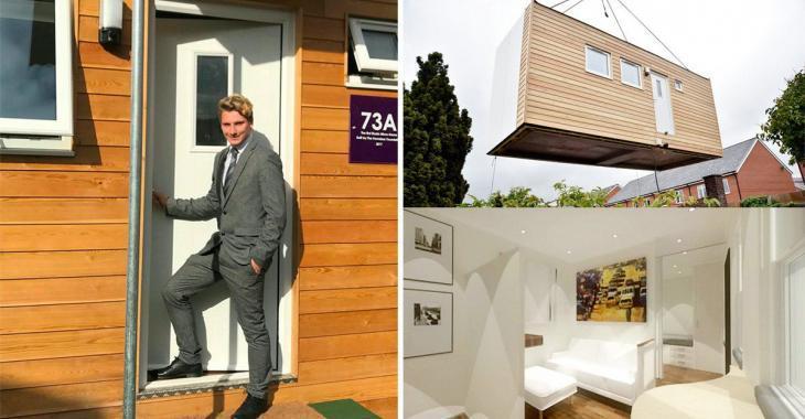 Un jeune homme de 18 ans devient le premier proprio d'une mini-maison visant à combattre la pauvreté.