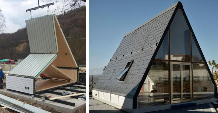 Cette maison révolutionnaire peut être construite en six heures et ne coûte que 40 000$