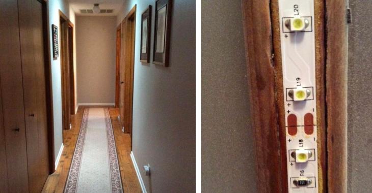 Son long couloir est sombre et ennuyeux, mais avec ce petit ajout ça change toute la maison.