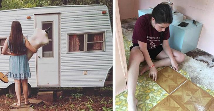 À 14 ans, une ado économise assez pour s'acheter un petit campeur et en fait une brillante utilisation.
