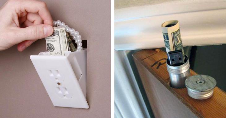 30 personnes dévoilent leur superbe cachette pour y cacher les objets précieux des voleurs.