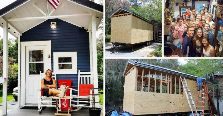 Lassé de payer un loyer, un étudiant construit sa propre maison au milieu de la forêt