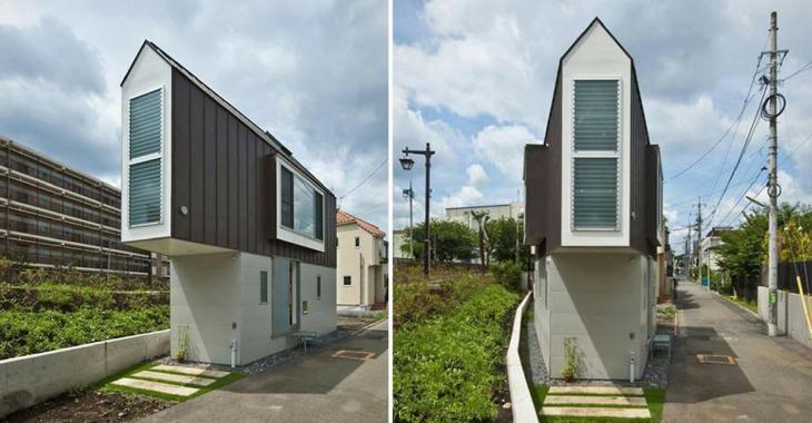 Cette maison à la forme peu traditionnelle semble minuscule, mais jetez un coup d'oeil à l'intérieur pour être surpris!