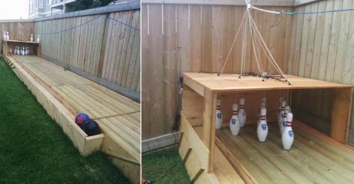 Un fan de bowling construit sa propre piste dans sa cour arrière