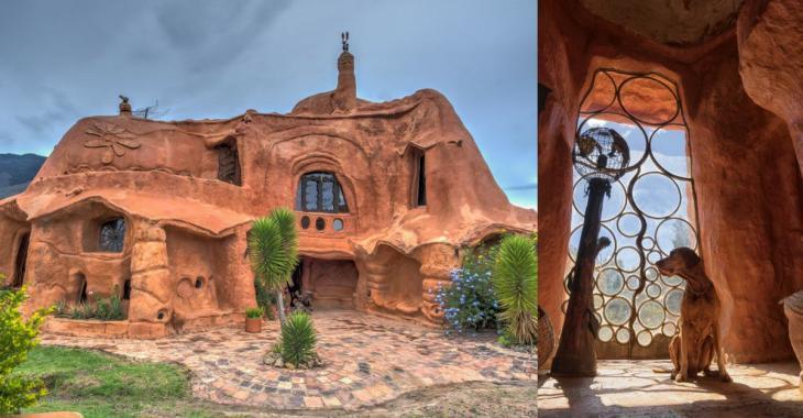 Cette maison entièrement en terre cuite nous surprend vraiment par son intérieur.