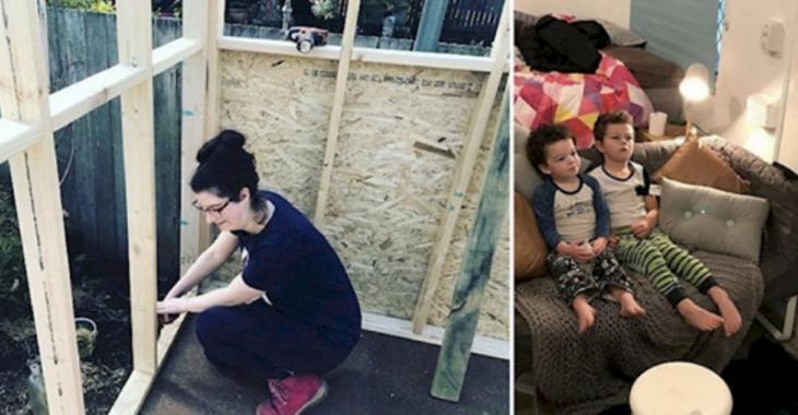 Une mère monoparentale sur le bord de se retrouver à la rue construit une maison de 10 000$