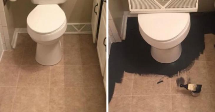 On la pensait folle de peindre sa salle de bain en noir, le résultat vous donnera envie de faire la même chose!