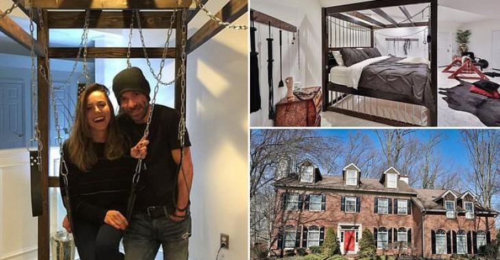 Un couple vend sa maison où l'on retrouve un immense donjon sexuel au sous-sol.
