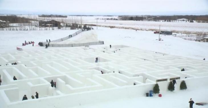 Voici le grand labyrinthe de neige de la planète et il se trouve au Canada.