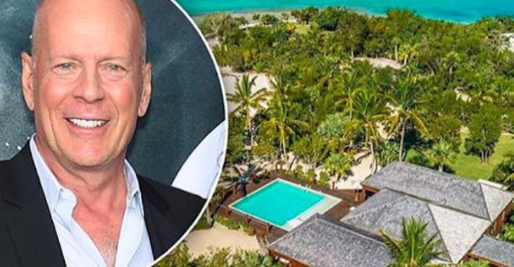 Bruce Willis vend sa maison sur une île paradisiaque et sa chambre à coucher nous fait rêver!