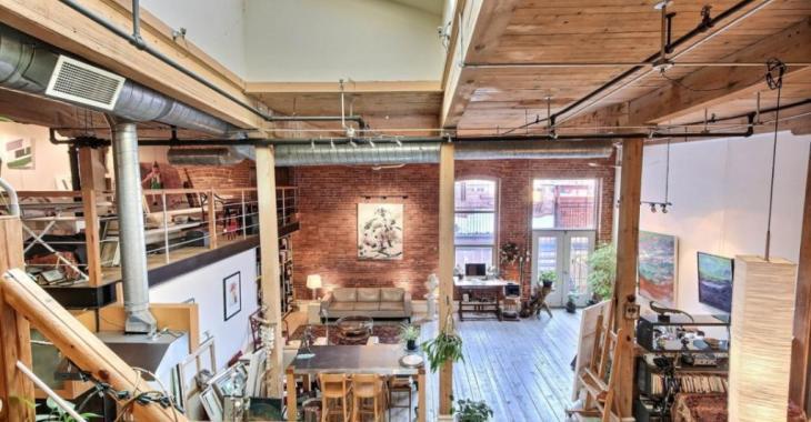 Ce magnifique loft à aire ouverte est à vendre pour un prix très alléchant et il fait rêver!