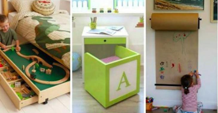 15 idées super chouettes pour gagner de l'espace dans une chambre d'enfants!